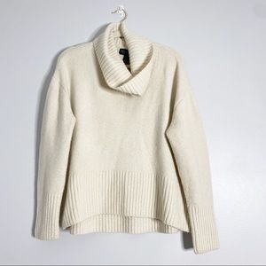 Rachel Zoe Merino Wool Cowl Neck Chunky Sweater
